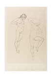 Nude Female Figure, Standing on Tip-Toe Giclee Print by Henry Tonks