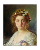 Flora Giclee Print by Gustave Jacquet