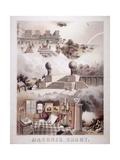 Masonic Chart, 1866 Giclee Print by John Henry Bufford