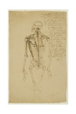 Drawing of a Man's Skeleton Giclee Print by James Ward