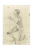 Study of a Kneeling Nude Man, Turned to the Left Giclee Print by Henry Tonks