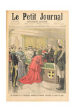 The Apostolic Nuncio Receiving the Red Hat from the President of the French Republic, from Le… Giclee Print by Oswaldo Tofani