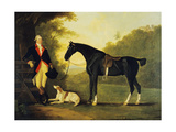 Officer of the Royal Horse Guards with His Charger and Dog, 1776 Giclee Print by John Best