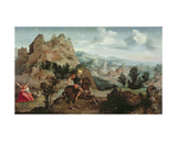 St George and the Dragon Giclee Print by Jan van Scorel
