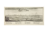 Profile of the City of Paris Giclee Print by Israel, The Younger Silvestre