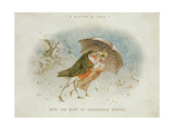 A Winter's Tale, Victorian Christmas Card Giclee Print by R. Dudley