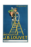 'It'Ll Climb Anything', Advertisement for the J.B. Louvet Bicycle Giclee Print by Michel, called Mich Liebeaux