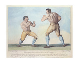 Boxing Match Between Thomas Johnson and Isaac Perrins, Engraved by T. Grozer, 1789 Giclee Print by Conrad Martin Metz
