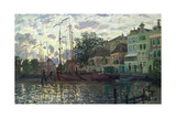 The Dam at Zaandam, Evening, 1871 Giclee Print by Claude Monet