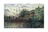 The Dam at Zaandam, Evening, 1871 Giclee Print by Claude Monet
