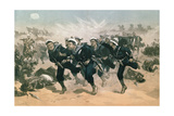Blue Jackets to the Front, from 'The Illustrated London News', 29th March 1884 Giclee Print by William Heysham Overend
