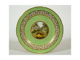 Crown Derby Plate Depicting a Running Hare Giclee Print by Samuel Howitt