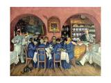 A Moscow Restaurant Giclee Print by Boris Mikhailovich Kustodiev