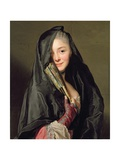 The Lady with the Veil (The Artist's Wife) 1768 Giclee Print by Alexander Roslin