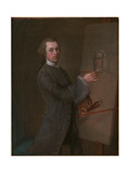 Self Portrait with a Portrait of Prince James Francis Edward Stuart, C.1747-49 Giclee Print by Cosmo Alexander
