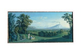 The English Garden of Caserta, 1792 Giclee Print by Jacob-Philippe Hackert