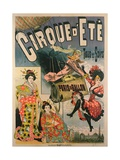 Poster Advertising 'Paris En Ballon' at the 'Cirque D'Ete' Giclee Print