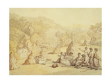 Harvesters Resting in a Corn Field, C.1805-10 Giclee Print by Thomas Rowlandson