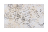 The Localities and Gradual Advance of the Barbarian Nations, C.1850 Giclee Print by W Hughes