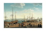 View of the Port of Messina, from the Palazzo Del Senato, 1791 Giclee Print by Jacob-Philippe Hackert