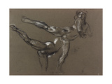 Two Studies of a Female Nude Giclee Print by Henry Tonks