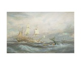 Colonial Whaler 'Fame', 1884 Giclee Print by Oswald Walter Brierly
