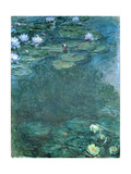 Water-Lilies Giclee Print by Claude Monet