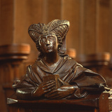 Detail of a Woman from One of the Choir Stalls Photographic Print