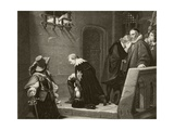 Thomas Wentworth, 1st Earl of Strafford Is Blessed by Archbishop Laud on the Way to His… Giclee Print by Hippolyte Delaroche