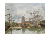 A French Port, 1884 Giclee Print by Eugene Louis Boudin
