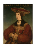 Mary of Austria, C.1520 Giclee Print by Hans Maler