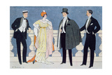 Elegant Evening Dress for Men and Women, Illustration from 'L'Homme Elegant' 1912 Giclee Print by Edouard Touraine