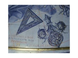 Celestial Globe, Detail: Triangle Bor and Fleur De Lys, 1683 Giclee Print by Vincenzo Maria Coronelli