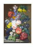 Still Life with Fruit and Flowers Giclee Print by Sebastian Wegmayr