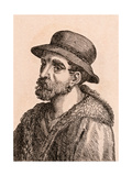 Giovanni Da Udine, Illustration from '75 Portraits of Celebrated Painters from Authentic… Giclee Print by James Girtin