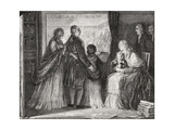 The Royal Family Take Refuge in the Assembly Giclee Print by H. de la Charlerie