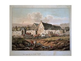 The Farm of La Haye Sainte, from 'An Historical Account of the Battle of Waterloo' Published 1817 Giclee Print