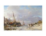 Port En Bretagne, 1861 Giclee Print by Louis Eugene Gabriel Isabey