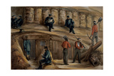 Gunners of the Royal Regiment of Artillery Resting in the Trenches of Sebastopol, C.1855 Giclee Print by Lt. Henry James Alderson