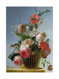 Still Life with Flowers, 1753 Giclee Print by Jean Jacques Bachelier