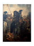 Captain Dighton Macnaghten Probyn (1833-1924) at the Battle of Agra on 10th of October 1857, C.1860 Giclee Print by Chevalier Louis-William Desanges