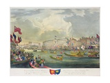 View of the River Thames During King William IV and Queen Adelaide Opening London Bridge,… Giclee Print by Frederick Calvert