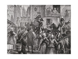 The Royal Family Is Taken to the Temple, 13th August 1792 Giclee Print by H. de la Charlerie