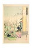 Flower Seller, Flower Arranger, from the Series 'Gekko's Idle Brush', 1891 Giclee Print by Ogata Gekko