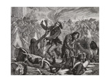 The Massacre of the Swiss Guard, 10th August 1792 Giclee Print by H. de la Charlerie