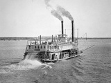 A Sternwheeler on the Mississippi, C.1880 Photographic Print