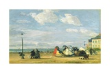 Empress Eugenie (1826-1920) at Trouville, 1863 Giclee Print by Eugène Boudin