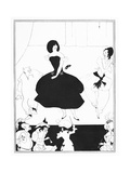 Illustration of the Comedy-Ballet 'Marionettes III', from 'The Yellow Book', Vol. 1, 1894 Giclee Print by Aubrey Beardsley