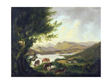 Lake Windemere Giclee Print by Julius Caesar Ibbetson