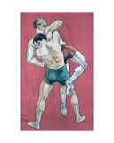 Wrestling Giclee Print by Candido Aragonez de Faria